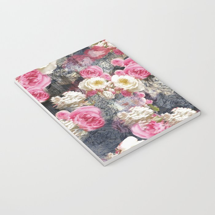 Blurry Floral Notebook