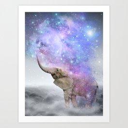 Don't Be Afraid To Dream Big • (Elephant-Size Dreams) Art Print