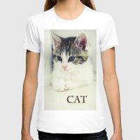 cat coquillette T-shirts featuring Cat by Falko Follert Art-FF77