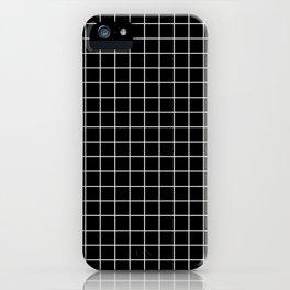 Black Grid White Lines| Black Aesthetic iPhone Case