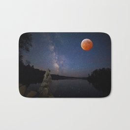 Super Blood Wolf Moon Bath Mat