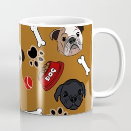Dogs lovers bulldog and cat Coffee Mug