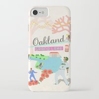 oakland iPhone & iPod Cases featuring Oakland by June Chang Studio