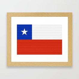 Chile Flag (Canvas Look) Framed Art Print