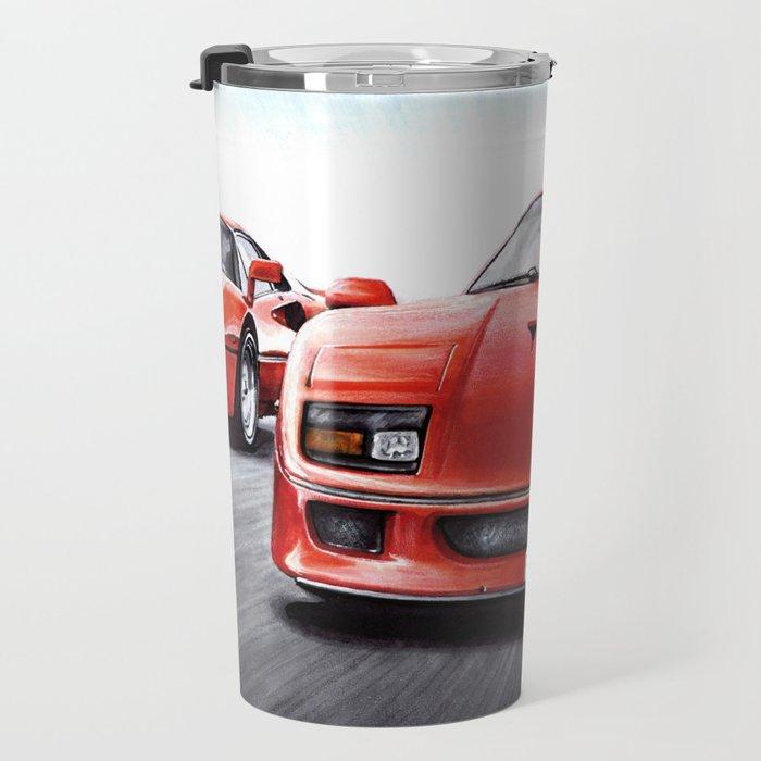 RED FLAGSHIP CARS RUNNING Travel Mug