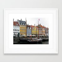 copenhagen Framed Art Prints featuring Copenhagen by constarlation