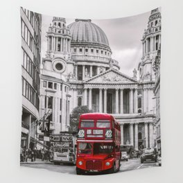 London Classic Bus Wall Tapestry