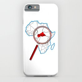 Central African Republic Under A Magnifying Glass iPhone Case