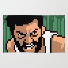 Logan minimal pixel art Rug