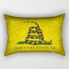 Gadsden Don't Tread On Me Flag - Worn Grungy Rectangular Pillow