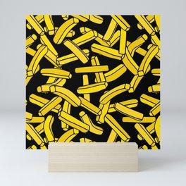 French Fries on Black Mini Art Print
