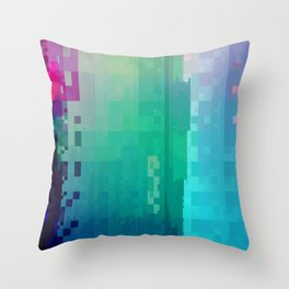 DIGITAL GLITCH 2 Throw Pillow