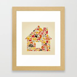 Body the house Framed Art Print