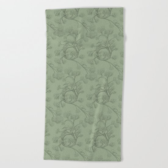 The Night Gardener - Endpapers Beach Towel