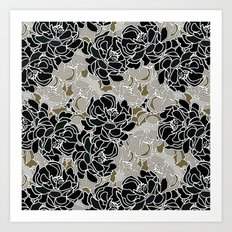 Patina Blossoms Art Print