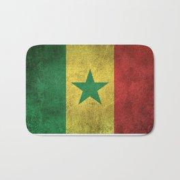 Old and Worn Distressed Vintage Flag of Senegal Bath Mat