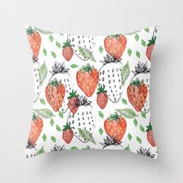 strawberrys Throw Pillow
