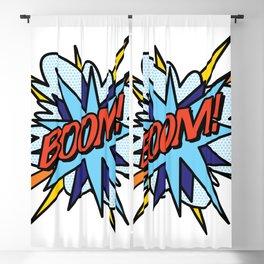 Comic Book Pop Art BOOM Blackout Curtain