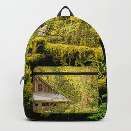 Image Washington USA Moss Cedar Creek Grist Mill Nature Rivers water mill river Watermill Backpack