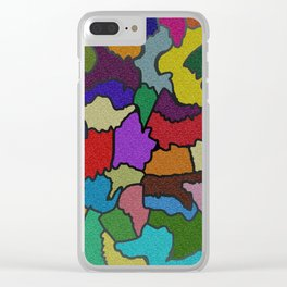 Color and cobble Clear iPhone Case