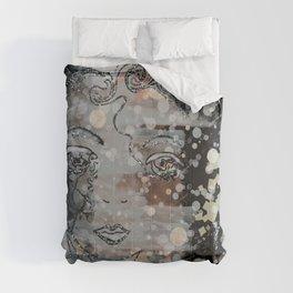 Sparkle Whimsical Bohemian free-spirit girl design Comforters