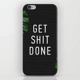 Get Shit Done Letter Board iPhone Skin