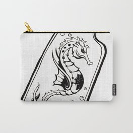 Seahorse Tattoo Inspired Carry-All Pouch