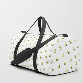 Avocado Print | White Duffle Bag