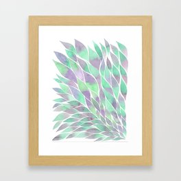 Feathers painting watercolors Framed Art Print