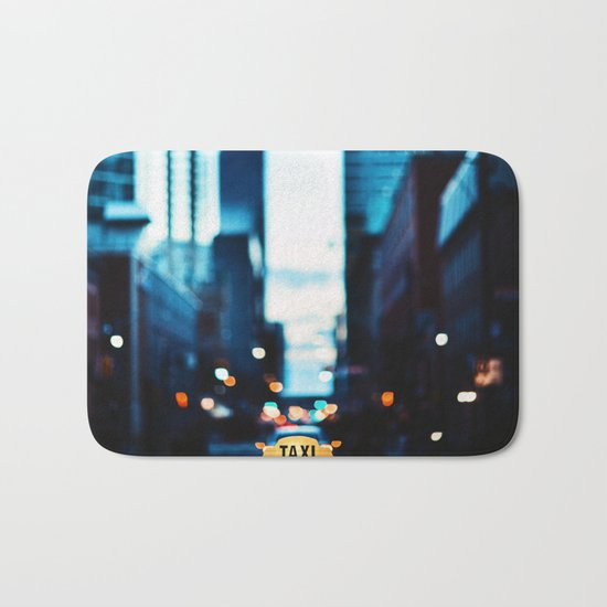 Blurred City Lights Bath Mat