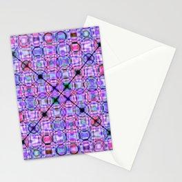 pattern purple 3 Stationery Cards