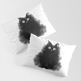 Duster - Black Cat Drawing Pillow Sham