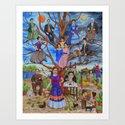 Frida Kahlo custom family tree painting by natashasazonova