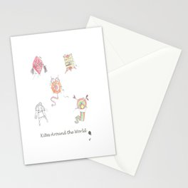Kites around the world Stationery Cards