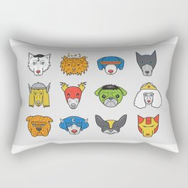 Super Dogs Rectangular Pillow