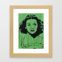 Hollywood Bombshells - Hedy Framed Art Print