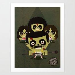queen zombies Art Print