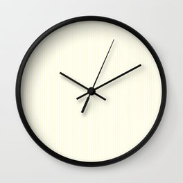 Large Horizontal Pastel Lemon Yellow Princess Elizabeth Regal Stripe Wall Clock