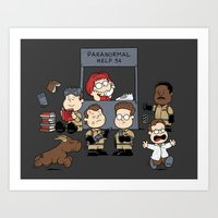 ghost busters Art Prints featuring The Busters Are In! by adho1982