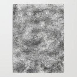 white / black smoke/ nicotine addiction Poster