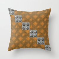 techno Throw Pillows featuring Techno by Karl-Heinz Lüpke