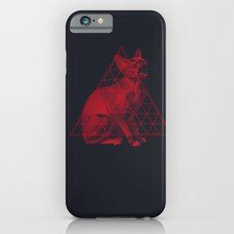 Sacred Sphynx dark iPhone Case