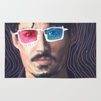 johnny depp Area & Throw Rugs featuring Johnny Depp by Pazu Cheng