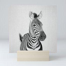 Zebra 2 - Black & White Mini Art Print