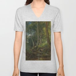"Ivan Shishkin ""The Brook"" Unisex V-Neck"