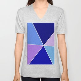 Just two colors 22 blue Unisex V-Neck