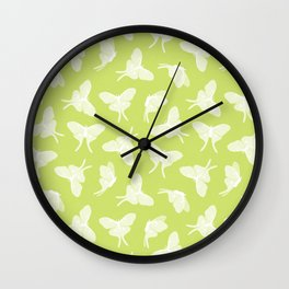 luna moth - lemongrass  Wall Clock