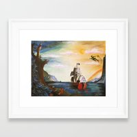 neverland Framed Art Prints featuring Neverland by Art by Terrauh