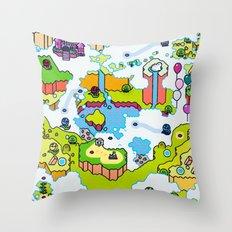 Super Sky World Throw Pillow
