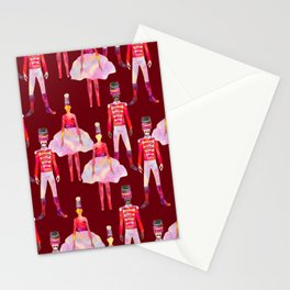 Nutcracker Ballet - Berry Red Stationery Cards